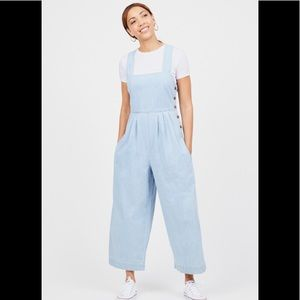 New free people side button  jumpsuit